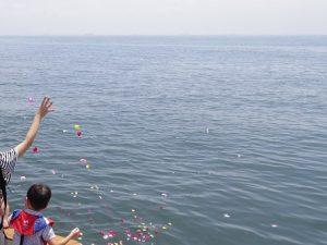 東京湾でのチャーター散骨